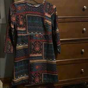 Abercrombie&Fitch Boho Fall Colors Floral Dress